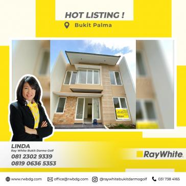 Rumah Baru Gress Dijual 2 lantai di Citraland, Bukit Palma Blok E5