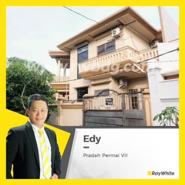 Rumah Dijual Mewah 2 Lantai, Pradah Permai, Dekat Tol Satelit